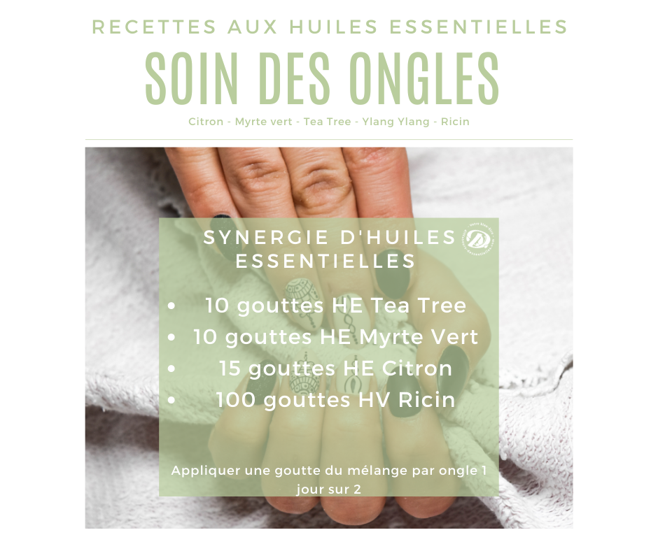 Synergie huiles essentielles soin des ongles