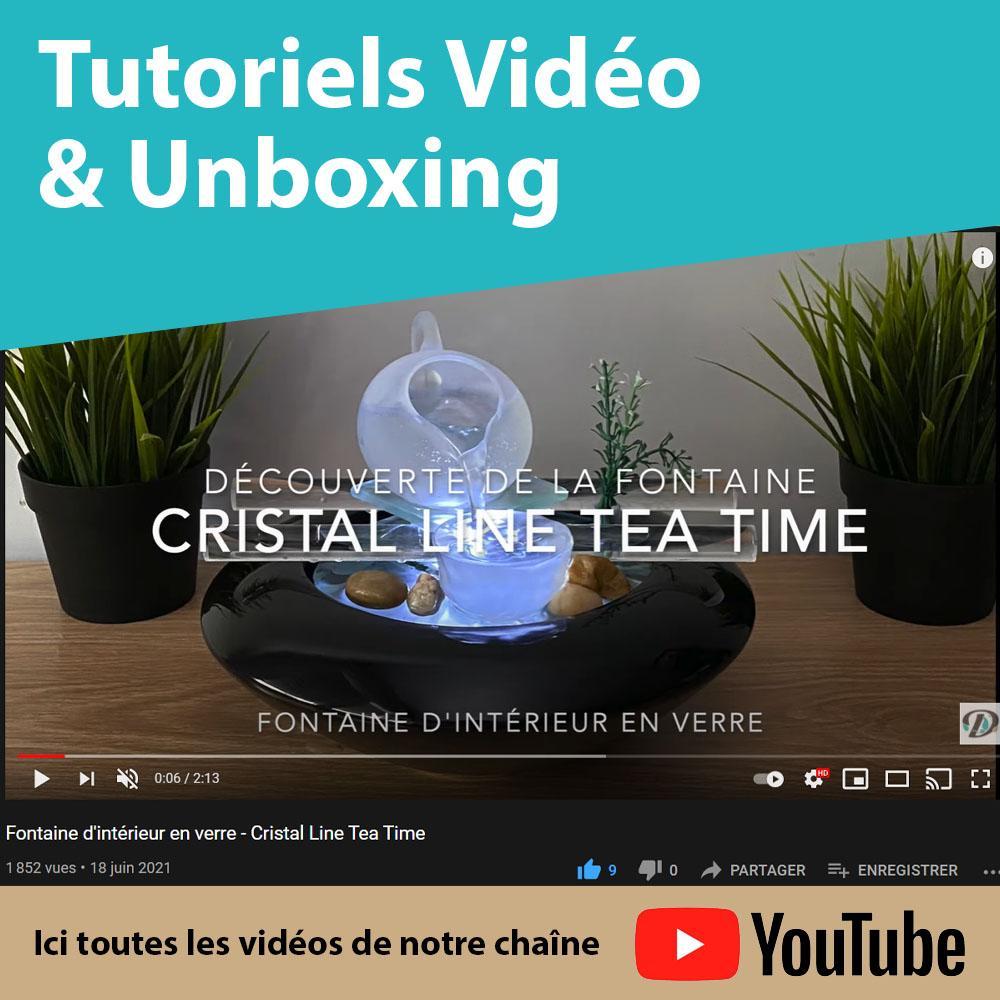 Tutos vidéo et unboxing Diffuseurs et Fontaines d'intérieur