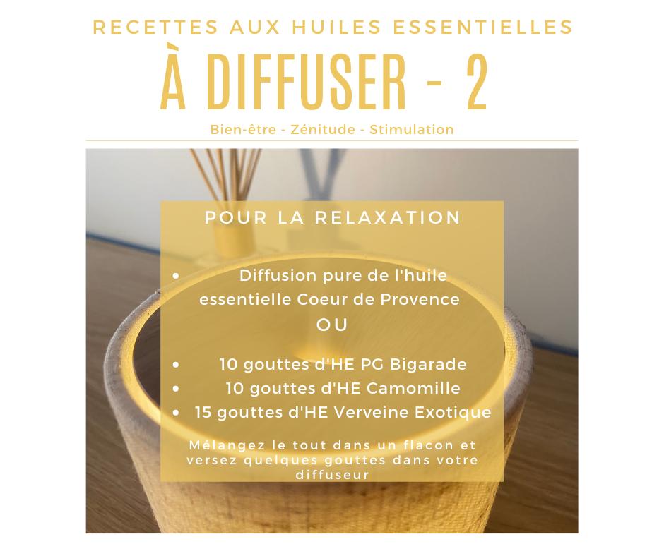 Recette diffusion huile essentielle pour la relaxation
