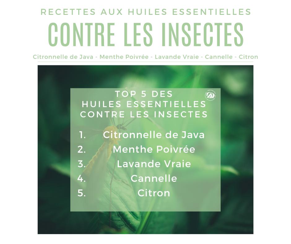 Top 5 huiles essentielles contre les Insectes