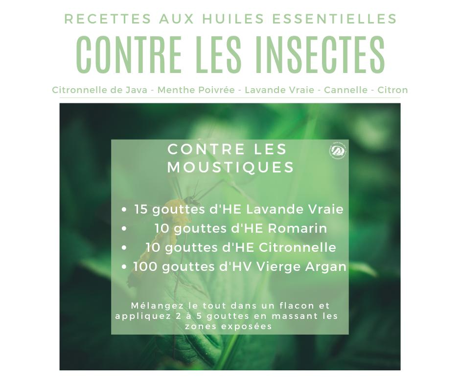 Recette huile essentielle contre les moustiques
