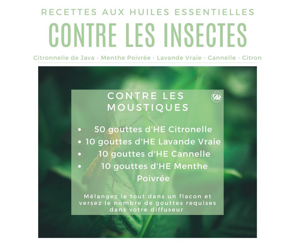 Recette huiles essentielles contre les moustiques