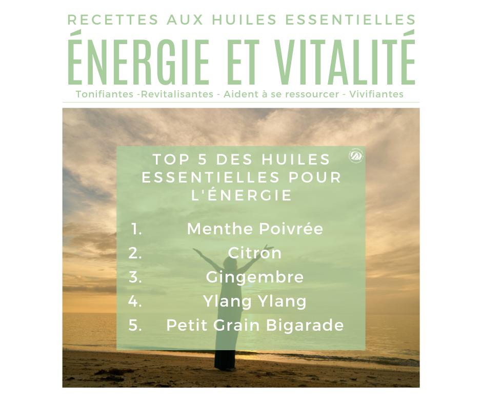 Top 5 des huiles essentielles pour l'énergie