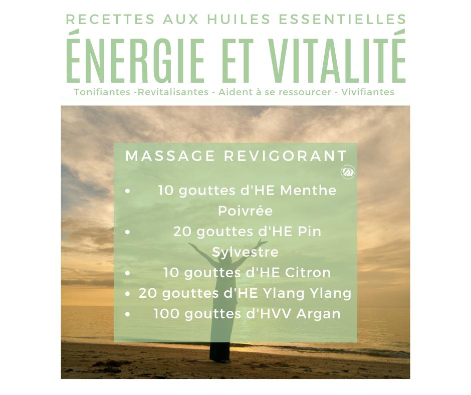 Recette huiles essentielles pour un massage revigorant